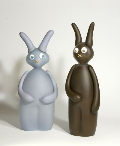 Grey and Brown Bunnies by